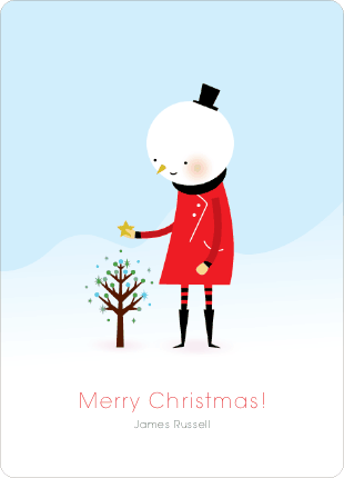 Whimsical Snowman Holiday Cards