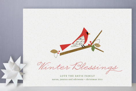 Winter blessings holiday cards