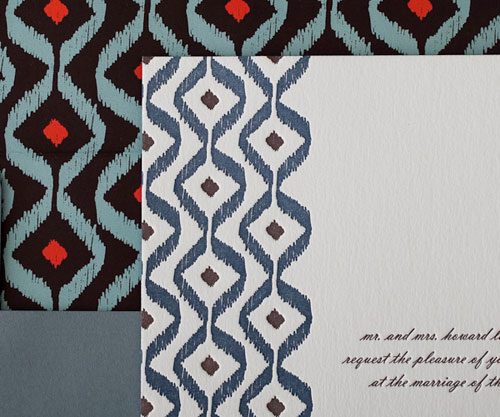 Santa Fe Letterpress Wedding Invitations