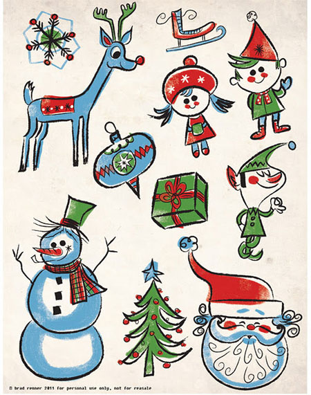 Free Printable Holiday Elements