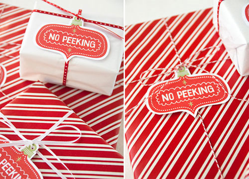 No Peeking Printable Tags
