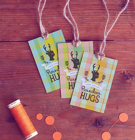 Free Printable Reindeer Tags