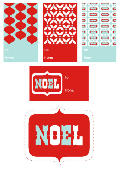 Patterned Printable Holiday Gift Tags