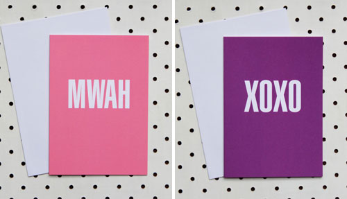 Akimbo Mwah and XOXO Cards