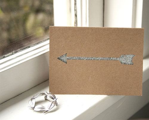 Valentine Glitter Arrow Cards
