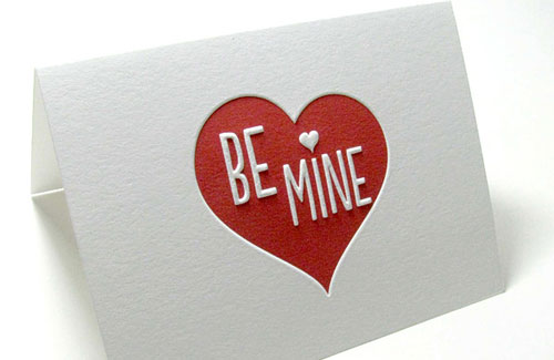 Digby Rose Embossed Valentine Card