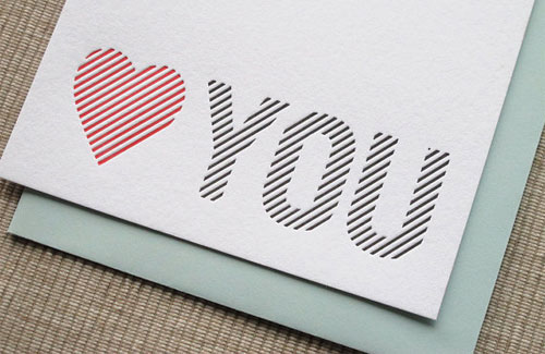 Maida Vale Letterpress Love Note