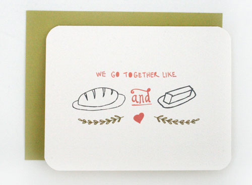 Bread and Butter Love Card