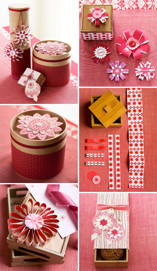 Red & White DIY Gift Wrap Ideas