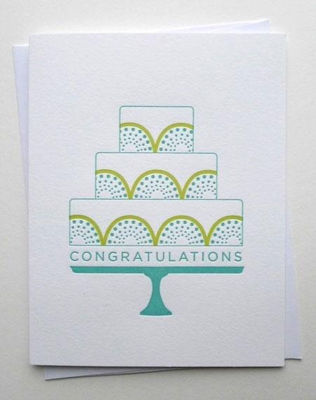Congratulations Cake Card