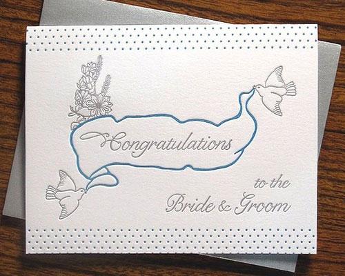 Wedding Congratulations Card