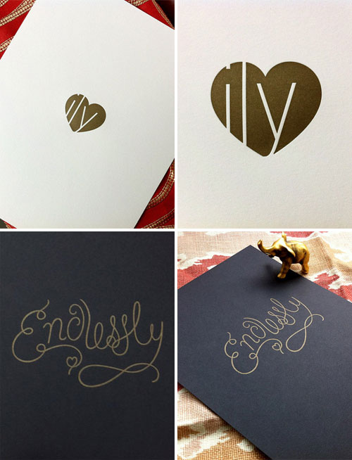 Gold Letterpress Art Prints