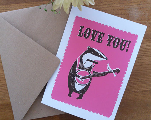 Love Badger Card