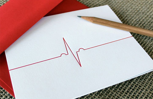 Heartbeat Letterpress Card
