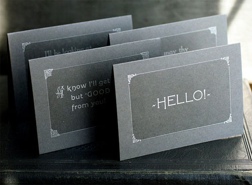 Silent Movie Inspired Cards