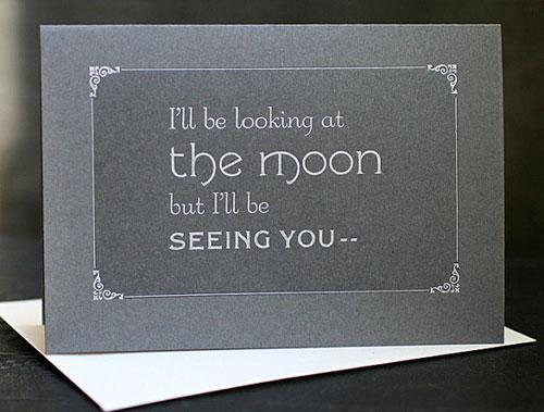 Silent Film The Moon Card