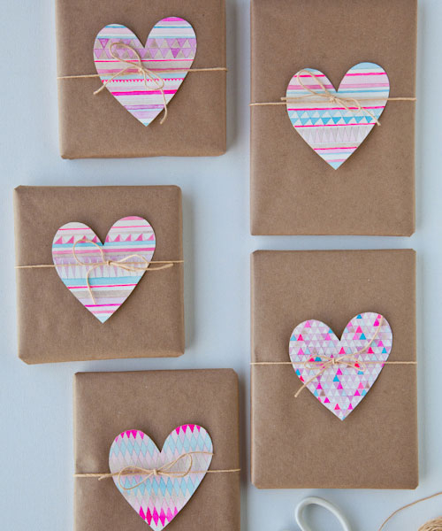 Watercolor Heart Gift Embellishments