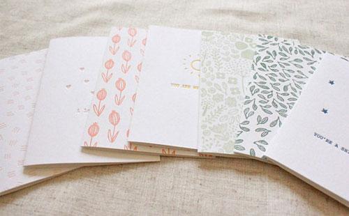 Floret Letterpress Cards