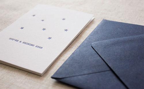 Stars Letterpress Card