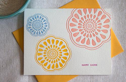 InkPrint Letterpress Easter Cards