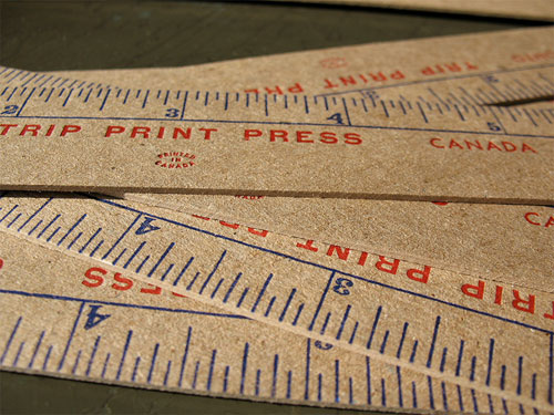 Ruler Promo Trip Print Press