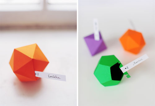 DIY Geometric Favor Boxes