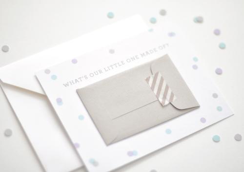 Mini Envelope Gender Announcements