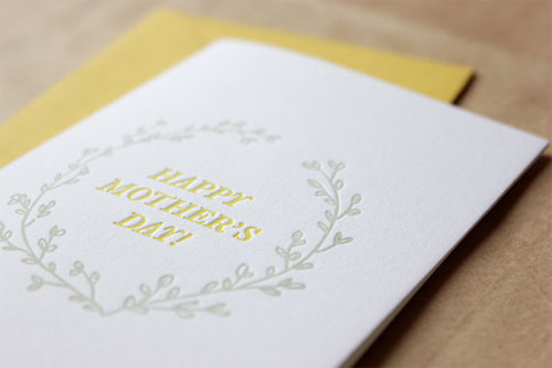 Floret Letterpress Mother's Day Card