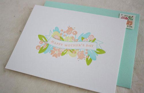 Honizukle Letterpress Mother's Day