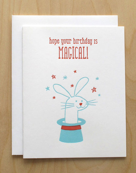 Lulu Dee Letterpress Rabbit Card
