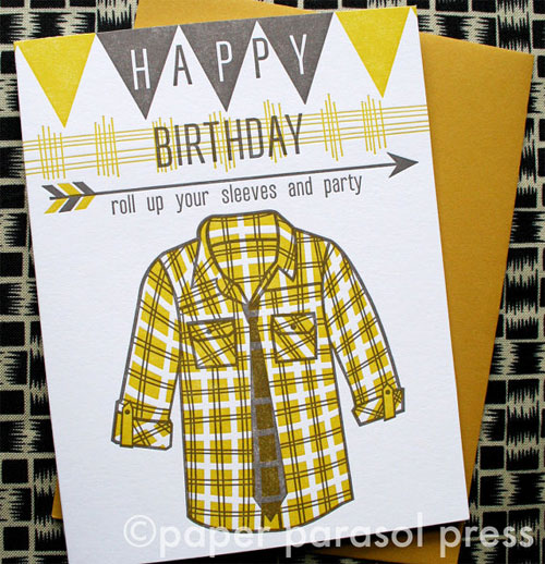 Paper Parasol Birthday Card