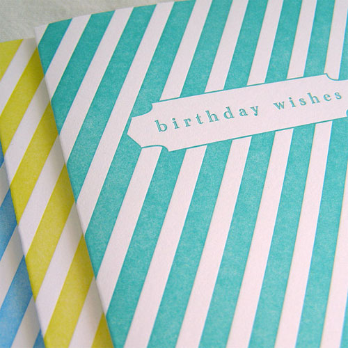 Presse Dufour Letterpress Birthday Cards