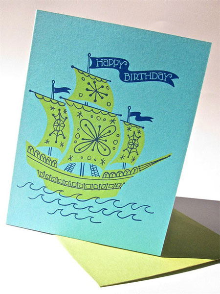 Pup & Pony Letterpress Birthday Card