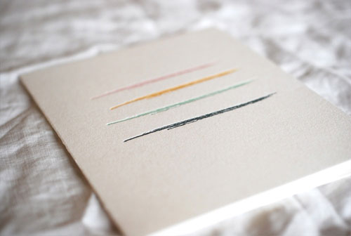 Letterpress Paint Card