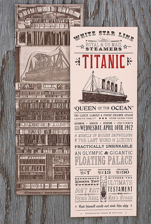 Starshaped Press Titanic Print