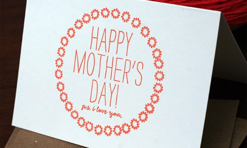 Tabletop Made Mother's Day Card
