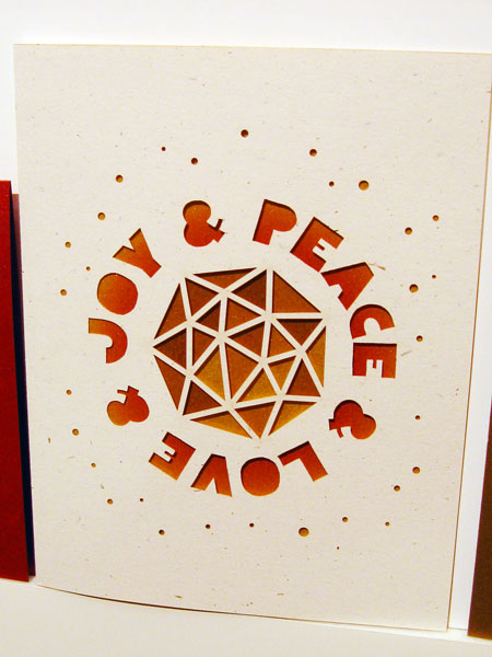 Laser Cut Holiday Card from Candyspotting