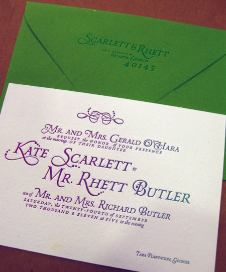 Dingbat Press Wedding Invitations