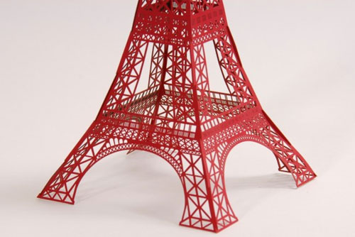 Laser Cut Paper Eiffel Tower