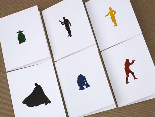 Letterpress Star Wars Cards
