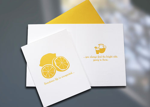 Lemonade Letterpress Card
