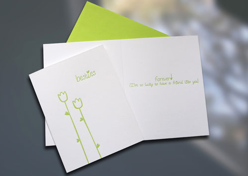 Friendship Letterpress Card