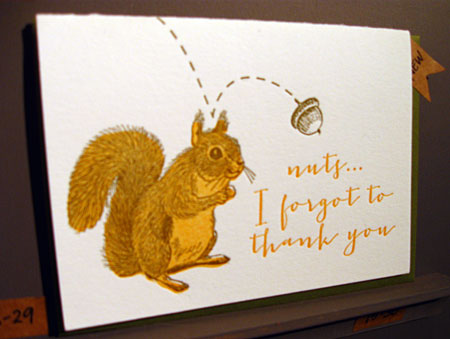 Sugarcube Nuts Thank You Card