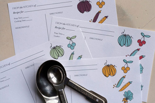 Illustrated Recipe Cards