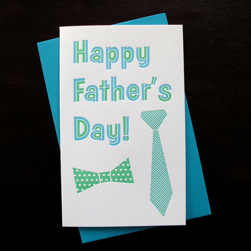 Anemone Letterpress Father's Day Card