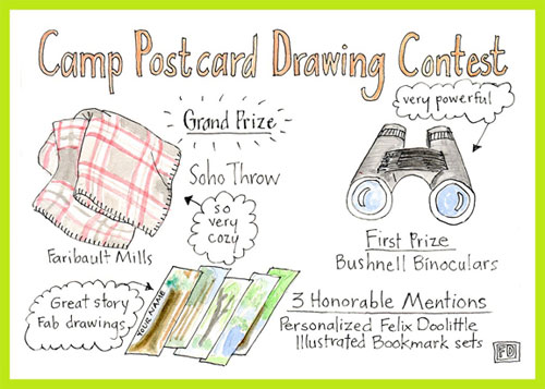 Felix Doolittle Camp Postcards Drawing Contest