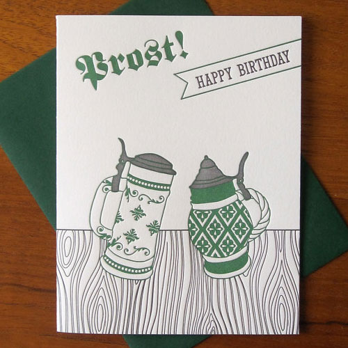 Beer Steins Birthday Card