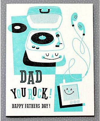 Hello! Lucky Dad You Rock Card