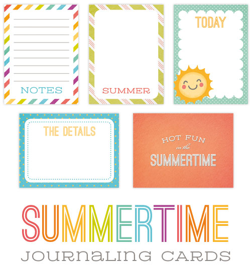 image about Free Printable Journal Cards known as Absolutely free Printable Summer season Journaling Playing cards - Paper Crave