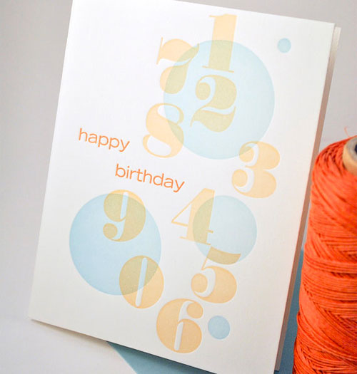 Bubble Happy Birthday Card